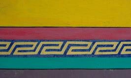 Kolorowe dekoracje przy wiejskim domem obrazy royalty free
