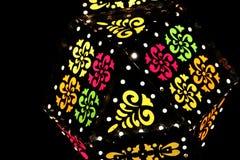 Kolorowe dekoracyjne lampy fotografia stock