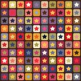 kolorowe deseniowe bezszwowe gwiazdy Zdjęcia Stock