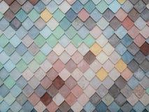 Kolorowe Deseniowe tło płytki Obraz Royalty Free