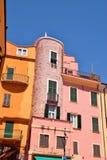 kolorowe domy Zdjęcia Stock