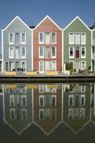 kolorowe domy drewniane Obrazy Royalty Free