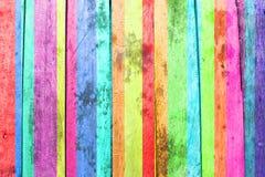kolorowe drewna Zdjęcia Stock