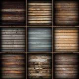 Kolorowe drewniane deski inkasowe Zdjęcia Stock
