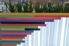 Kolorowe drewniane ogrodzenie deski Obraz Stock