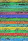 Kolorowe drewniane płytki Barwiony drewniany tło Podławy modny tekst Obraz Stock