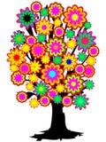 kolorowe drzewo ilustracji