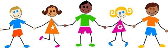 kolorowe dzieciaki Zdjęcia Stock