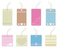 Kolorowe etykietki z sercami. Fotografia Royalty Free