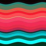 Kolorowe fala jak formy, abstrakcjonistyczny projekt Obrazy Stock