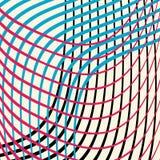 Kolorowe faliste linie w abstrakcjonistycznym tle projektują wektor w fala czerwony błękitny czerń z bielu i Zdjęcia Royalty Free