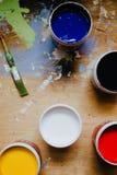 kolorowe farby Fotografia Stock