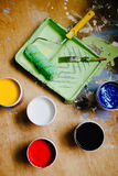 kolorowe farby Zdjęcie Royalty Free