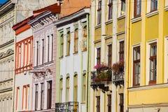 Kolorowe fasady starzy budynki Zdjęcia Royalty Free