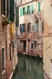 Kolorowe fasady starzy średniowieczni domy w Wenecja Fotografia Stock