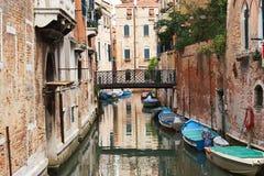 Kolorowe fasady starzy średniowieczni domy w Wenecja Fotografia Royalty Free