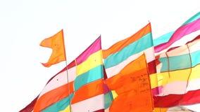 Kolorowe flaga w świątyni zbiory
