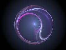 kolorowe fractal kula plazmy Obrazy Royalty Free