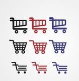Kolorowe fura sklepu ikony Obrazy Royalty Free