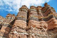 Kolorowe góry Quebrada De Las Conchas, Argentyna Zdjęcie Royalty Free