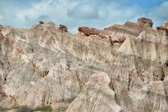 Kolorowe góry Quebrada De Las Conchas, Argentyna Zdjęcie Stock