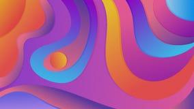 kolorowe geometrycznego tła Fluid kształtuje skład obrazy royalty free