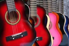 kolorowe gitary Obrazy Royalty Free