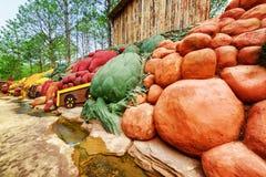 Kolorowe gliniane rzeźby warzywa Dalat gwiazda Fotografia Royalty Free