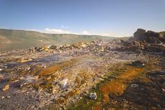 Kolorowe Gorące wiosny Przy Jeziornym Bogoria, Kenja Obrazy Stock