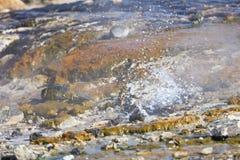 Kolorowe Gorące wiosny Przy Jeziornym Bogoria, Kenja Obrazy Royalty Free