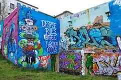 Kolorowe graffiti sztuki w Iceland Obraz Royalty Free