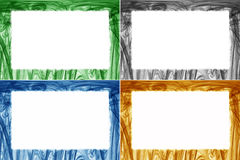 Kolorowe granicy i ramy ustawiający Obraz Stock