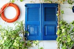 Kolorowe Greckie ulicy, szczegóły Zdjęcie Royalty Free