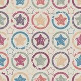 Kolorowe grunge gwiazdy Zdjęcia Stock