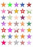 Kolorowe gwiazdy ilustracji