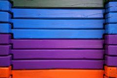 Kolorowe horyzontalne drewniane deski zdjęcia royalty free