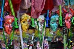 Kolorowe karnawał maski fotografia stock