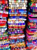 Kolorowe koc w bolivian ulicznym rynku zdjęcia stock