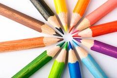 kolorowe kredki Zdjęcia Stock