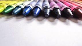 kolorowe kredki Obraz Stock