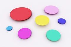 Kolorowe kropki Zdjęcia Royalty Free