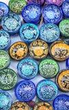kolorowe kubki Zdjęcie Stock
