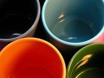 kolorowe kubki Zdjęcia Stock