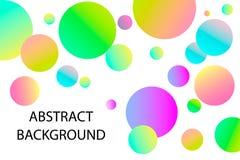 kolorowe kuleczki Minimalny projekt sprawozdania Wektorowa geometryczna ilustracja Abstrakcjonistyczny tło menchie, purpury, błęk zdjęcie stock