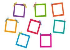 Kolorowe kwadrat ramy również zwrócić corel ilustracji wektora ilustracja wektor