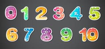 Kolorowe liczby royalty ilustracja