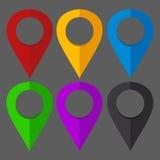 Kolorowe lokacj szpilki Fotografia Stock