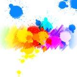 Kolorowe malować tło krople royalty ilustracja