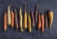 Kolorowe marchewki układają zdjęcie royalty free
