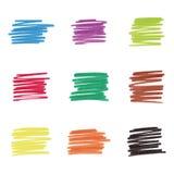 Kolorowe markier plamy, wektorowa ilustracja ilustracji